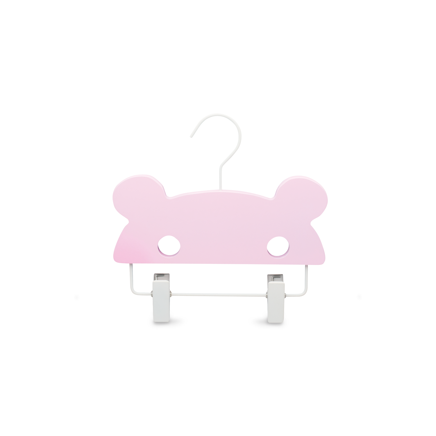 pink bear baby clothes hanger bottom