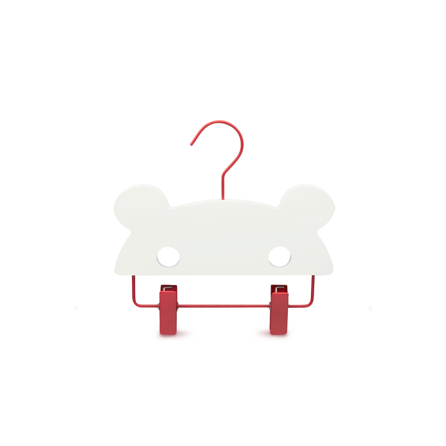 YourHanger BABY bear white with red hook bottom
