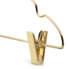 Metal Gold Bottom Clothes Hanger side view detail clamp