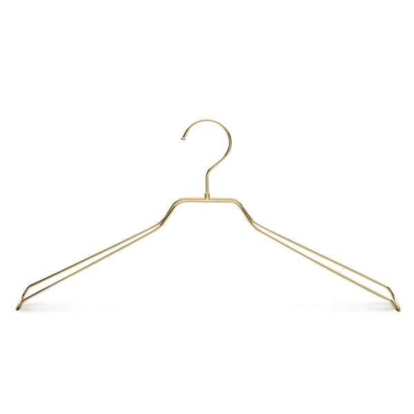 Metal Gold Jacket Clothes Hanger - front view