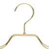 Metal Gold Jacket Clothes Hanger front view detail hook