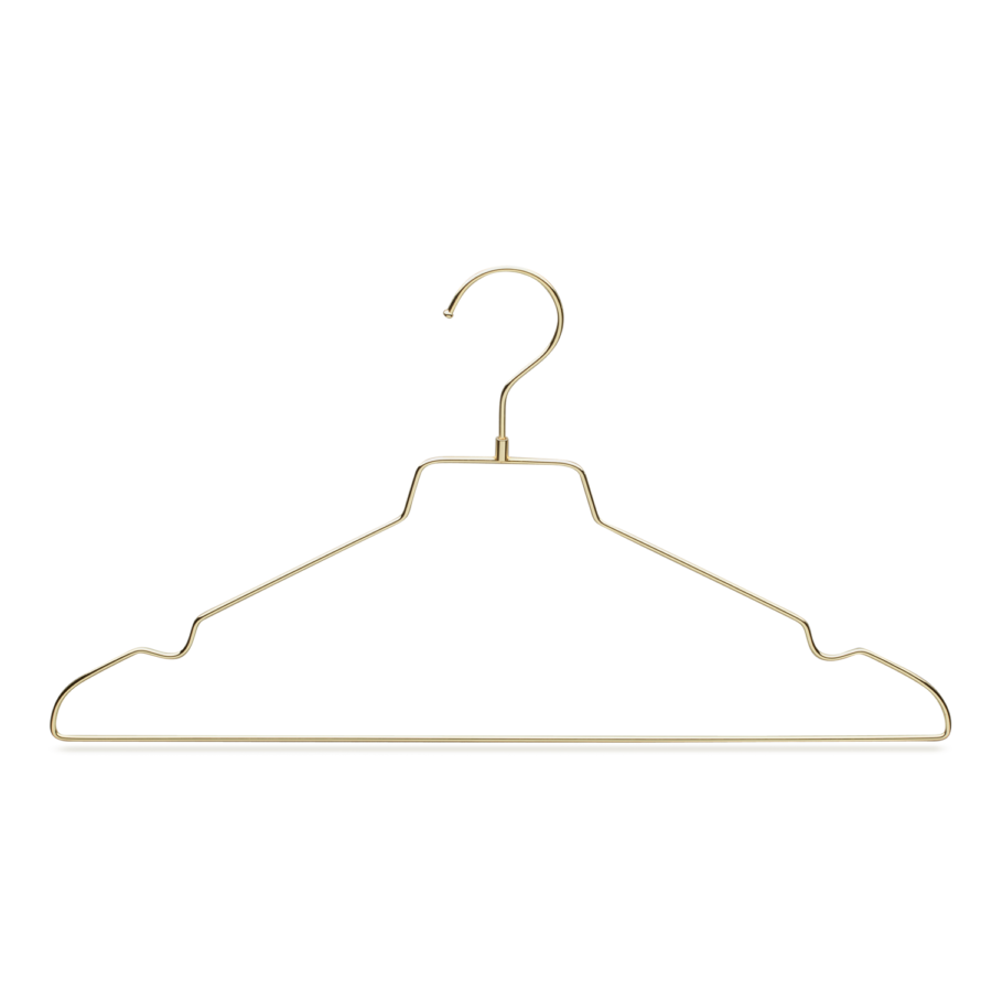 Metal Gold Top Clothes Hanger