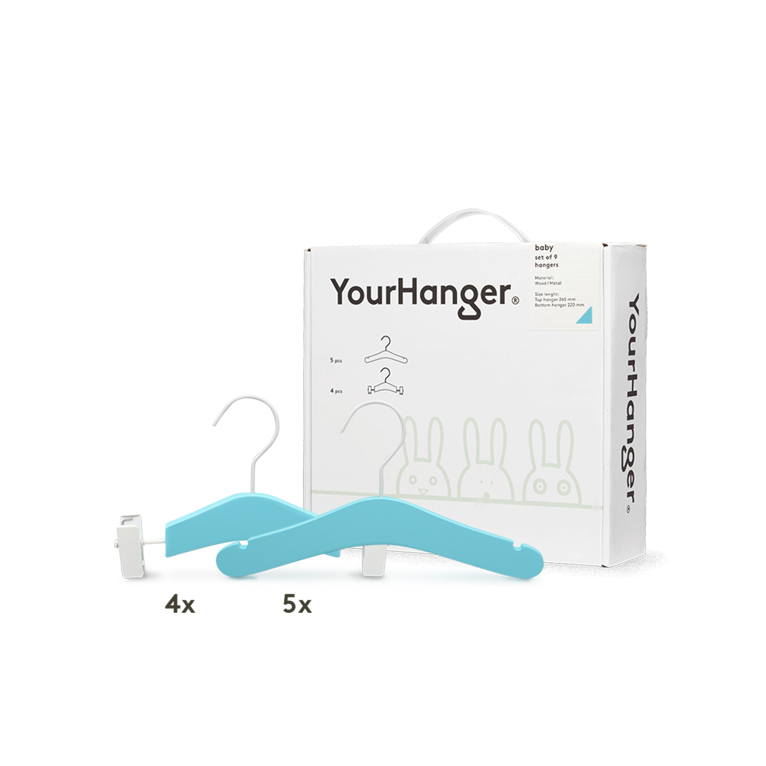 YourHanger BABY hanger box green