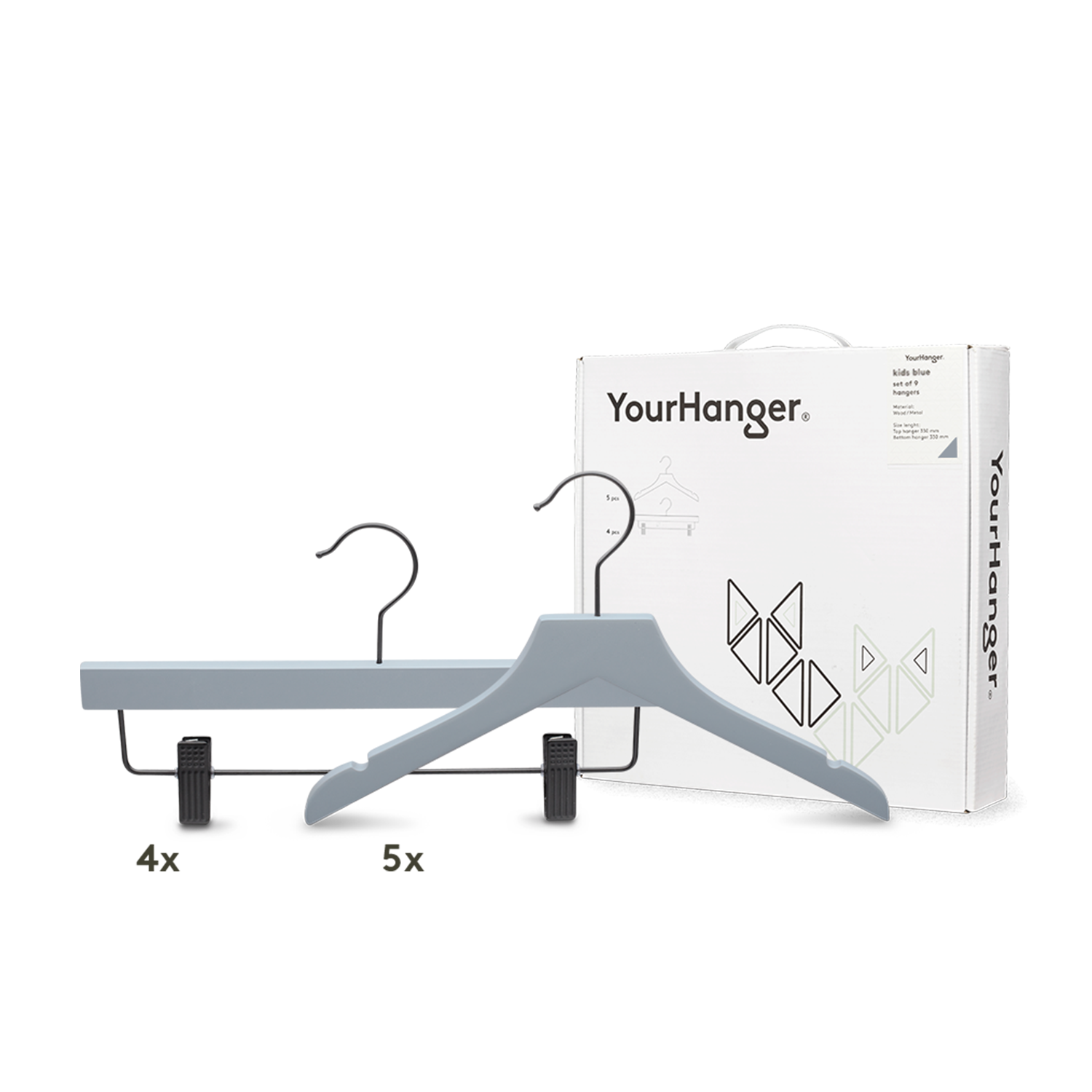 YourHanger KIDS hanger box gray