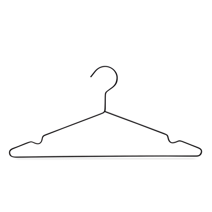 metal top hanger black wire YourHanger