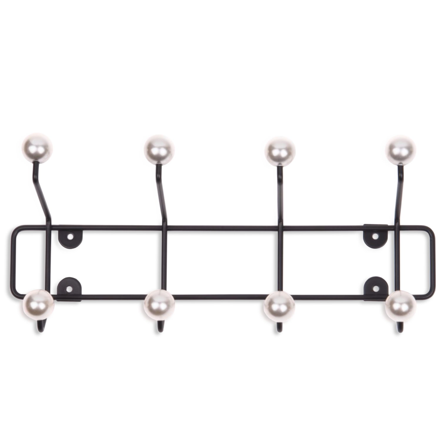 coat rack saturn pearl buttons black metal